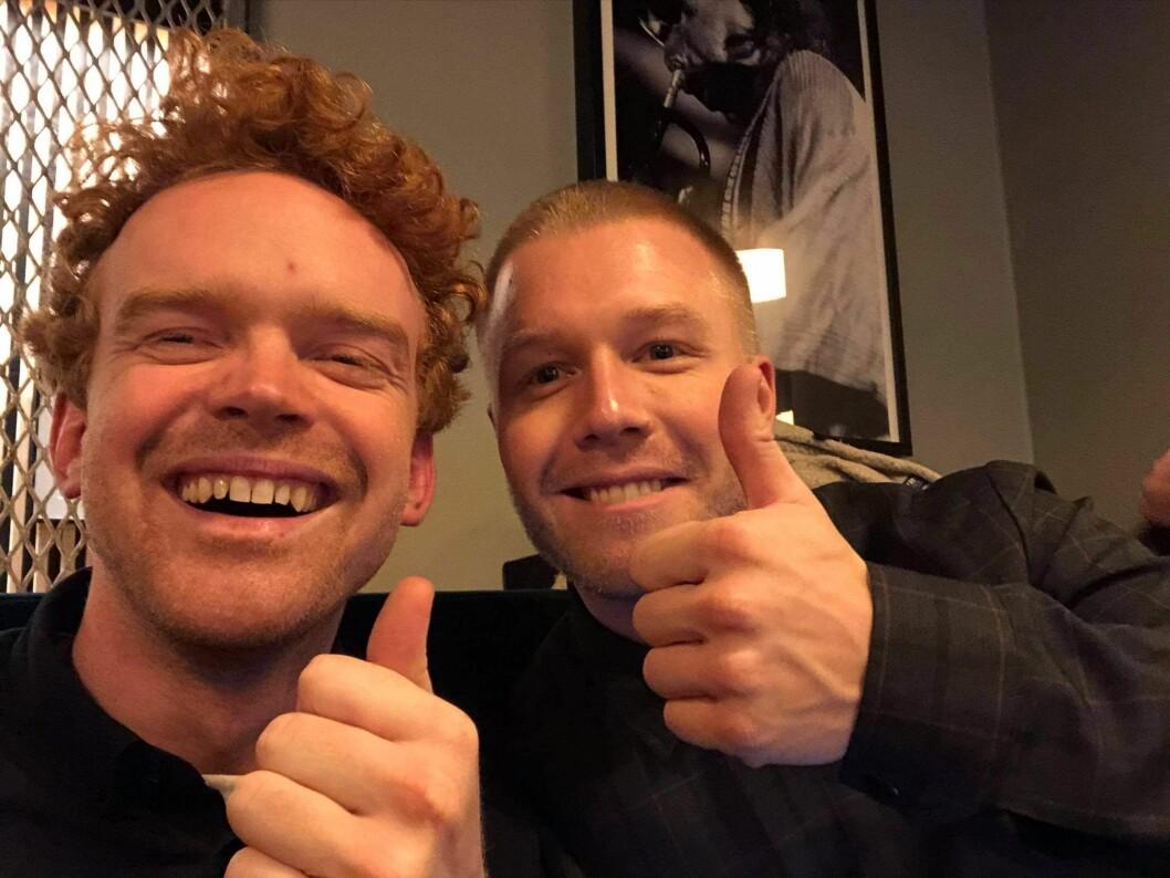 Mikkel Niva og Herman Flesvig følger Radioresepsjonen til Schibsted.