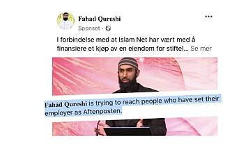 Islam Net-leder målretter Facebook-innlegg mot journalister: – Utilsiktet