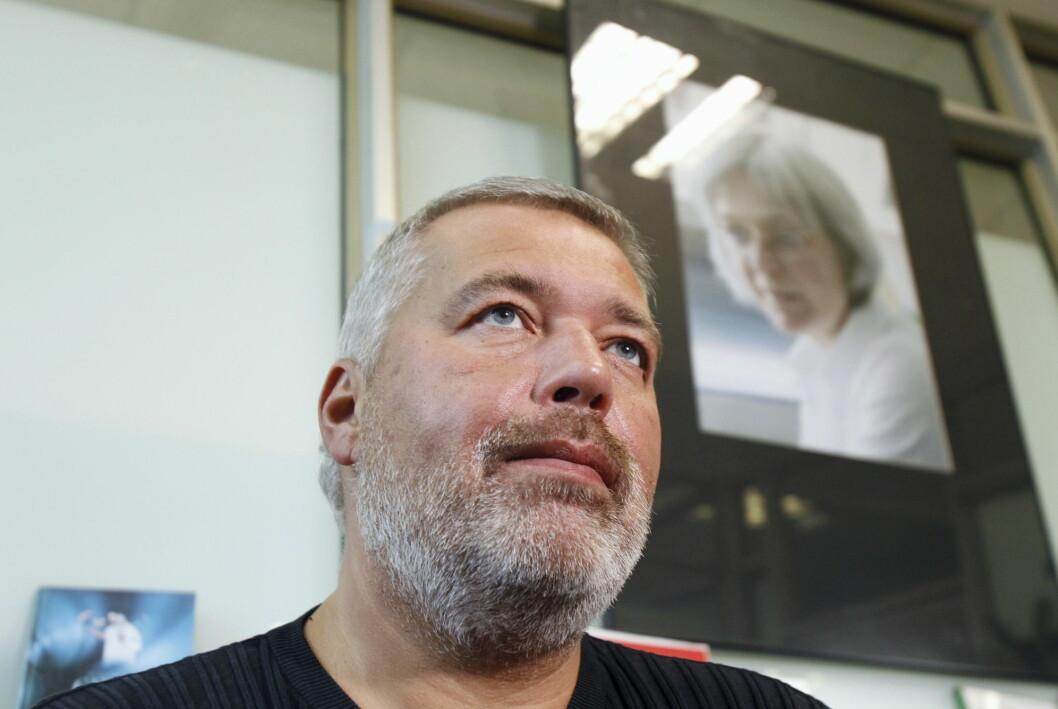 Sjefredaktør Dmitrij Muratov i Novaja Gazeta er kjent for uavhengig og undersøkende journalistikk og en kritisk holdning til Russlands regjering.