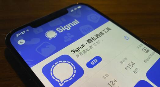Meldingsappen Signal utilgjengelig i Kina