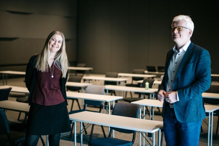 Leder og nestleder Dag Idar Tryggestad og Hege Fagerheim ble enstemmig valgt på dagens NJ-landsmøte.