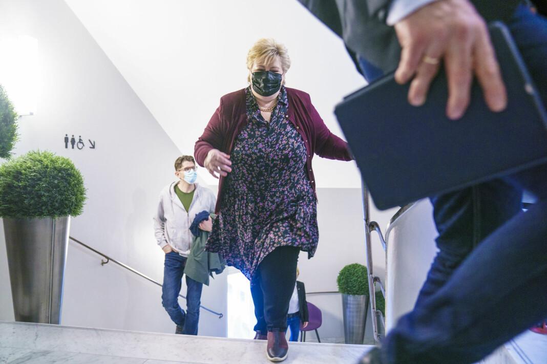 NRK var først ute med å omtale Erna Solbergs smittevernbrudd på Geilo.