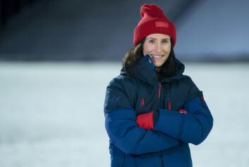 Marit Bjørgen fotografert i forbindelse med innspillingen av TV 2s vinterstudio.