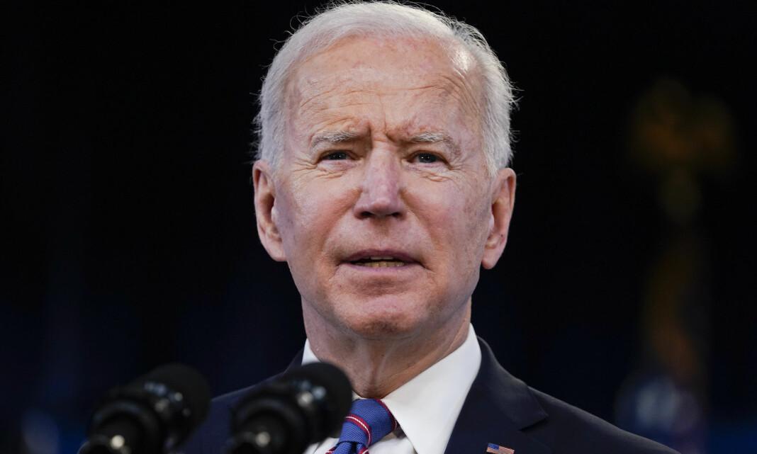 Joe Biden holder sin første pressekonferanse
