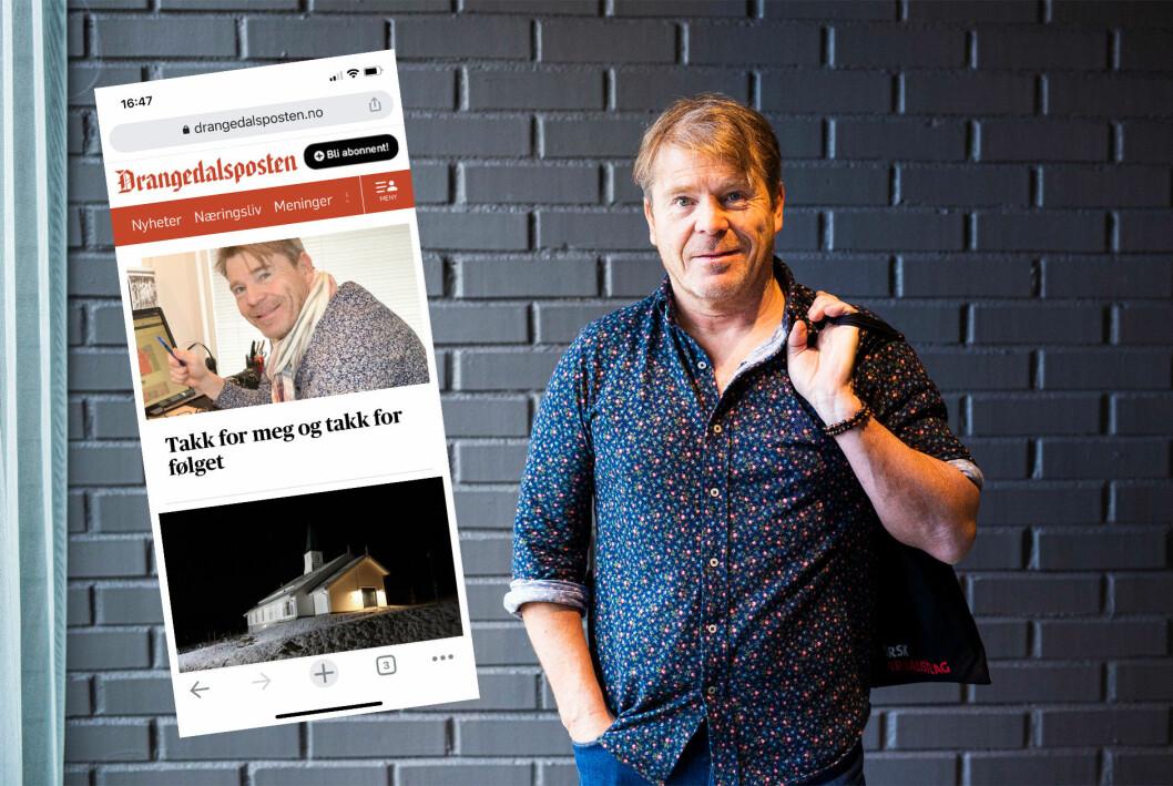 Ansvarlig redaktør Jan Magne Stensrud i Drangedalsposten ble oppsagt forrige torsdag.