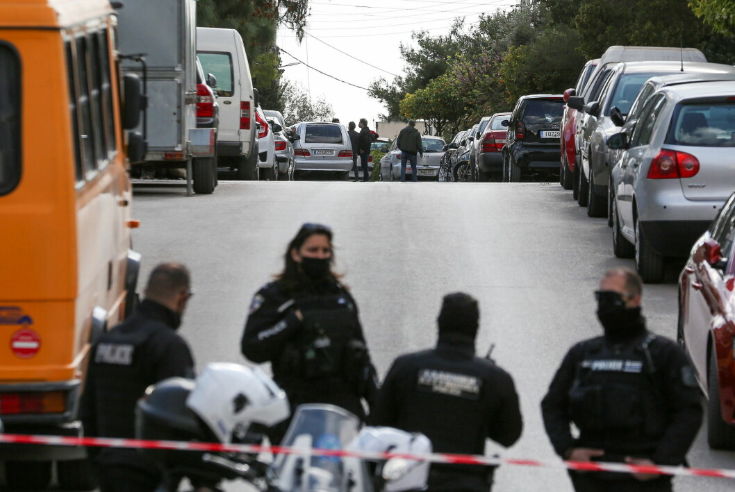 I detteområdet skal den greske journalist Giorgos Karaivaz ha blitt skutt flere ganger av to menn på en motorsykkel.