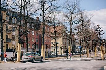Dekningen av sykkelfelt i Gyldenløves gate har vært ubalansert
