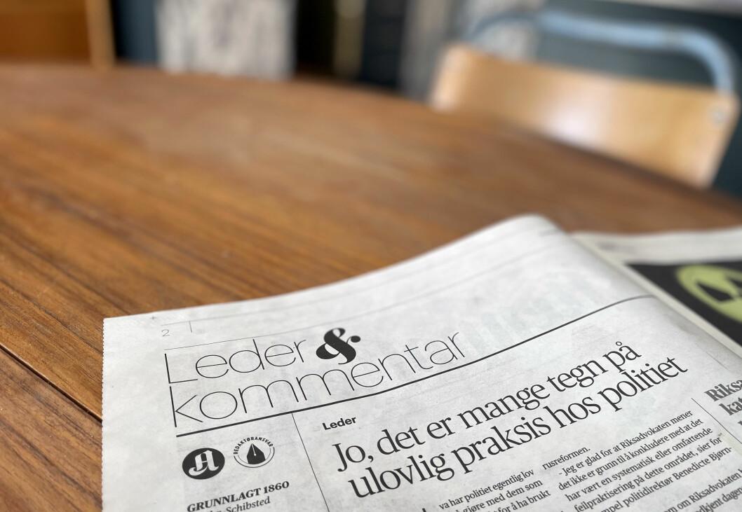De store mediene har noenlunde samme syn på nesten alle saker i samfunnsdebatten og politikken, mener Leif Osvold.