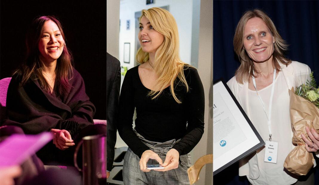 Nominerte: Fra venstre Sun Heidi Sæbø, Alexandra Beverfjord og Helje Solberg.