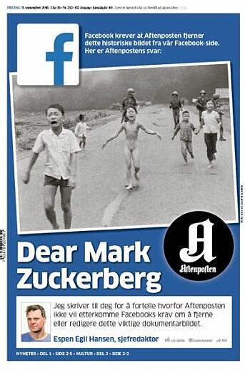 Som Aftenposten-redaktør tok Hansen et oppgjør med Facebooks opptreden som «overredaktør».