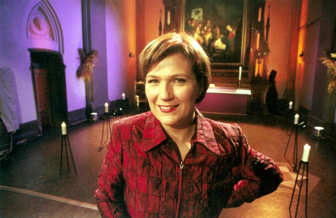 Siv Nordrum i 2000 i forbindelse med at hun gjorde et lite NRK-comeback som programleder for et adventprogram.