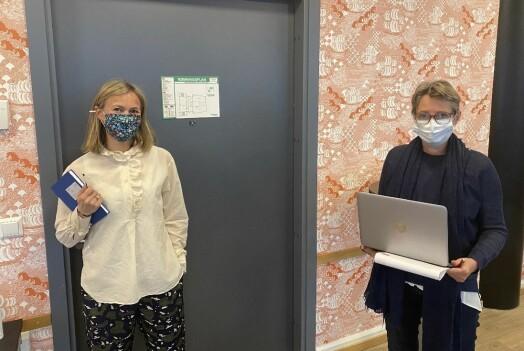 MBLs forhandlingsutvalg, her representert ved Siv Juvik Tveitnes og Pernille Børset.