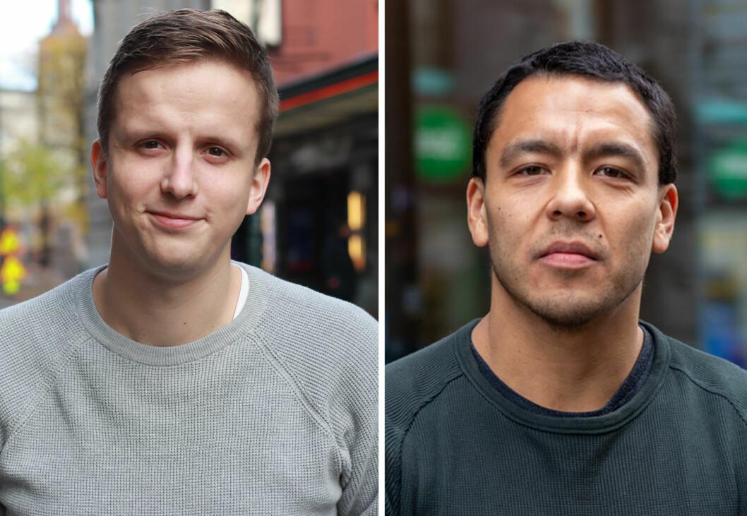 Anders Lohne Fosse (t.v.) og Mario Andrés Neira Torres er ikke nye navn for Nettavisens lesere. Nå har de begge fått fast jobb.
