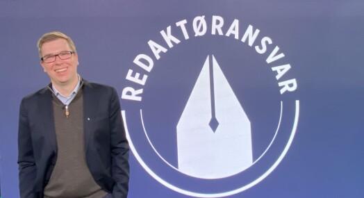Eirik Hoff Lysholm er ny leder av Norsk Redaktørforening