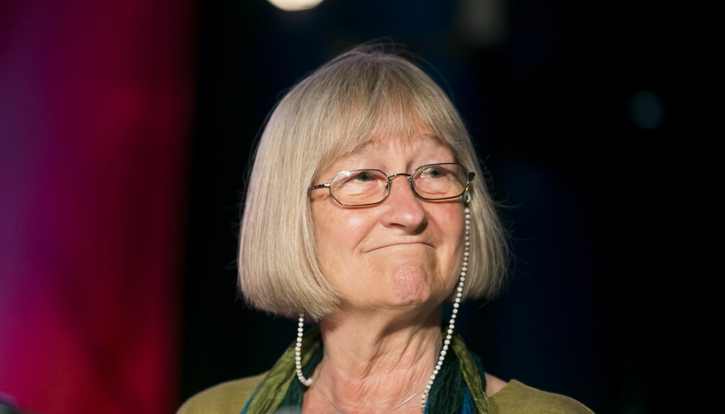 Else Michelet fotografert under feiringen av Reiseradioen 50 år i 2013. Foto: Heiko Junge / NTB