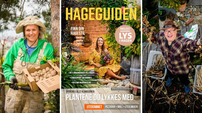 Bjørnhild og Tore er ofte avbildet i magasinet. Forsidebildet er av en de kjenner som hadde en fin hage.