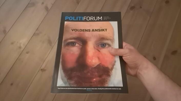 Politiforums nyeste forside gjør bruk av en klassisk bildeeffekt.