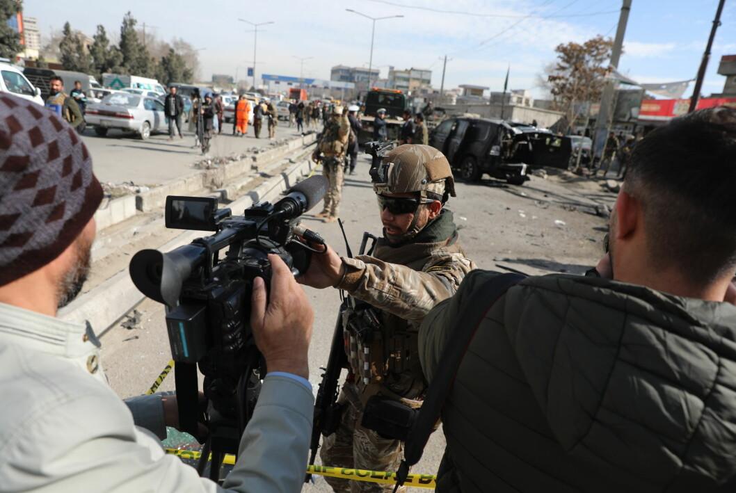 Afghanistan er et av de farligste landene i verden for journalister. I fjor ble 15 journalister drept.