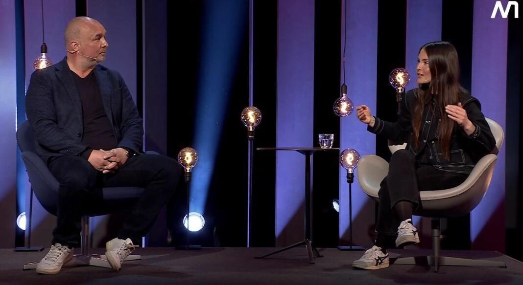 VGs breakingleder Robert Simsø og Dagbladets redaksjonssjef Hege Varsi fortalte om push-jobbing hos NMD.