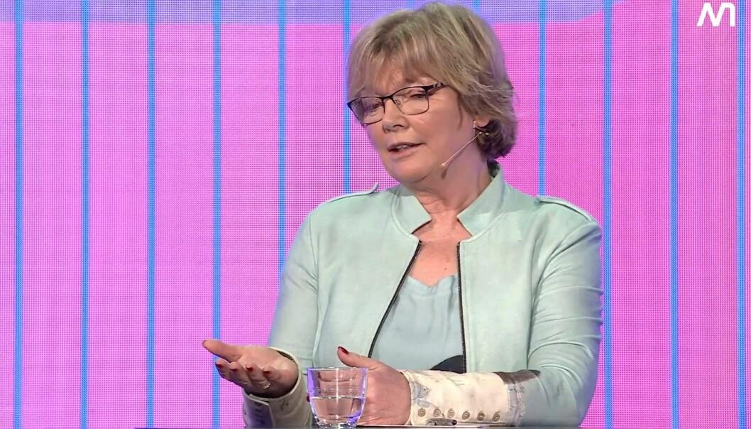Charlotte Haug debatterte korona-dekningen under Nordiske Mediedager.