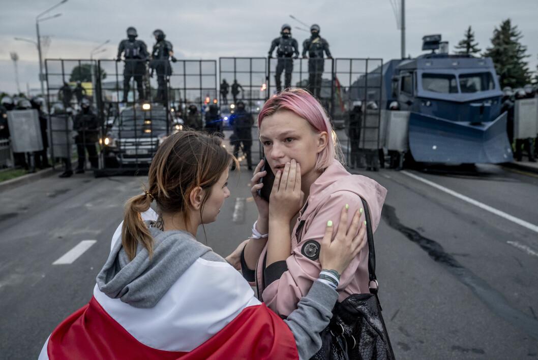 Med dette bildet fra demonstrasjonene i Hviterussland, tok Asger Ladefoged Årets pressefoto i Danmark.