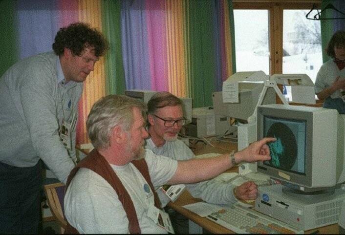 Kristen Gislefoss meldte været også under OL på Lillehammer i 1994. Her sammen med Trygve Aas og Jan-Erik Johnsen.