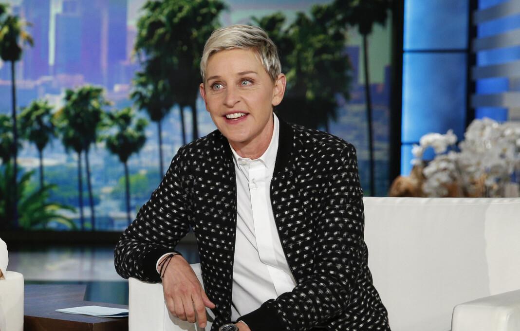 Ellen DeGeneres under en innspilling av talkshowet sitt i 2016.