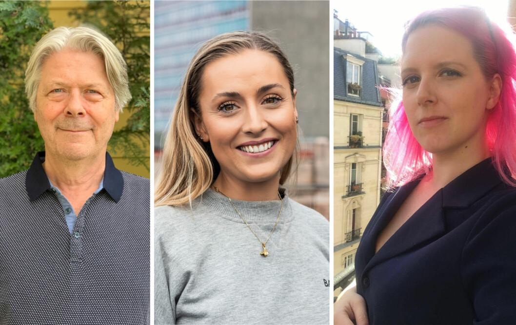 Erik Stephansen, Julie Solberg og Siv Bjerke får nye arbeidsoppgaver som ledere i Nettavisen.