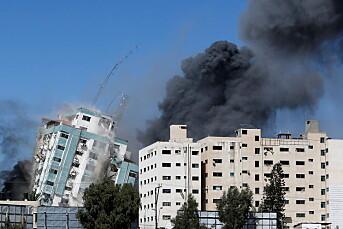 Israelsk luftangrep jevnet mediebygg med jorden på Gazastripen