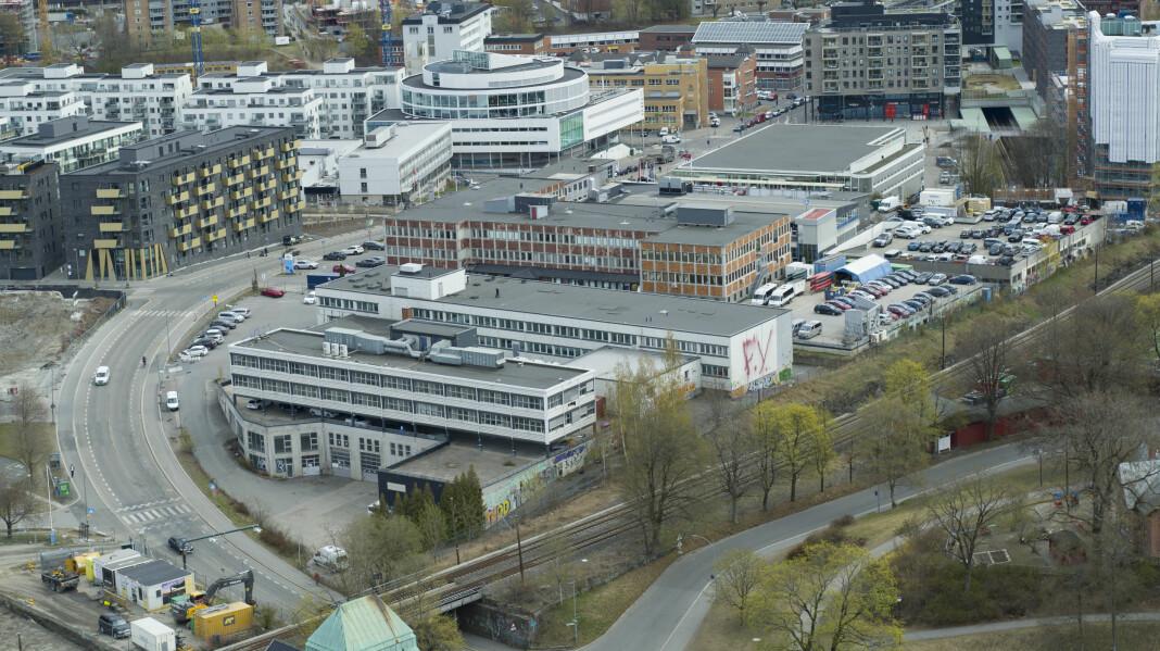 Slik ser området ut i dag. Om fem til syv år skal dette være NRKs nye hovedkontor.
