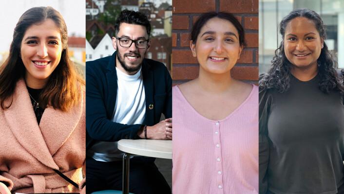Lara, Osama, Chamanpreet og Gayatri er Schibsteds nye traineer