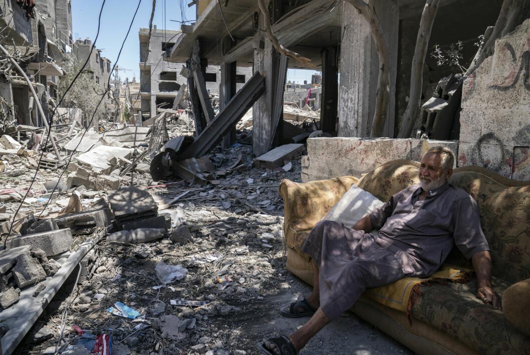 Ødeleggelsene på Gazastripen er store etter elleve dager med israelske fly- og artilleriangrep.