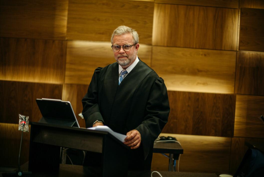 Advokat Jon Wessel-Aas fotografert da lagmannsretten behandlet saken i mai i år.