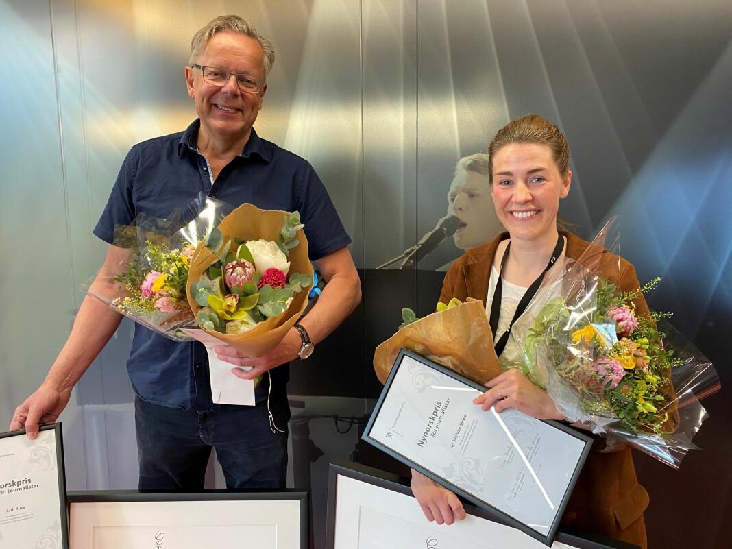 Arill Riise og Siri Kleiven Strøm trudde dei skulle på eit møte om stortingsvalet, då juryen overraskande dukka opp.