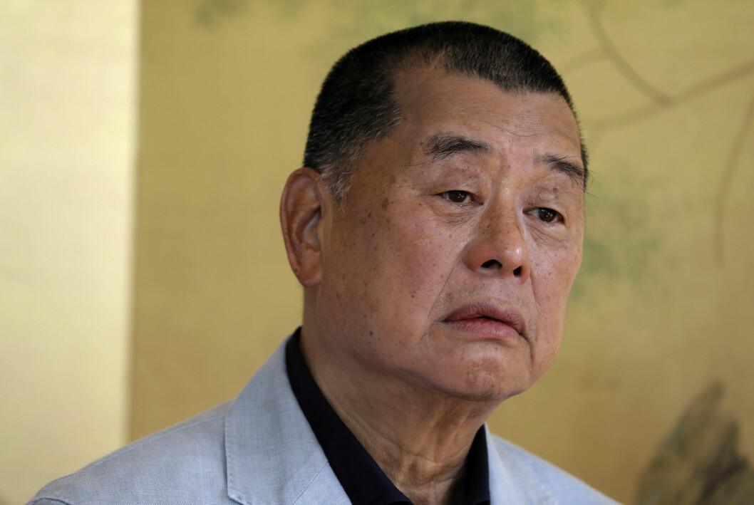 Jimmy Lai eier blant annet den Beijing-kritiske avisa Apple Daily.