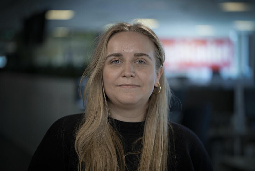– Jeg har alltid hatt en drøm om å jobbe med TV, sier Mina Ridder-Nielsen Janssen.