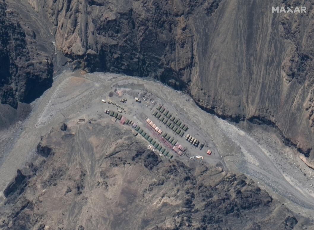 Det omstridte grenseområdet mellom India og Kina: Galwan Valley. Bildet skal vise kinesiske soldater som er i området.