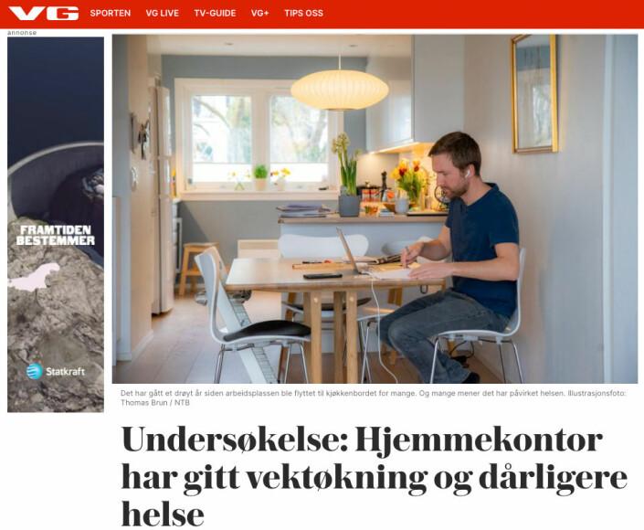 Håkon Mosvold Larsen fikk mange tilbakemeldinger fra venner og kjente da bildet ble brukt i denne sammenhengen på VG.no