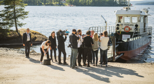 Overlevende fra Utøya møter journalister for å diskutere erfaringer fra 22. juli