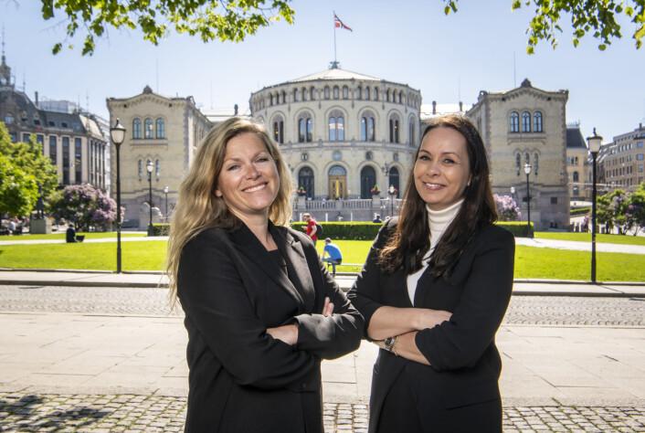 Leder for Valgboden, Martine Aurdal, og prosjektleder Tanja Wibe-Lund i Dagbladet TV.