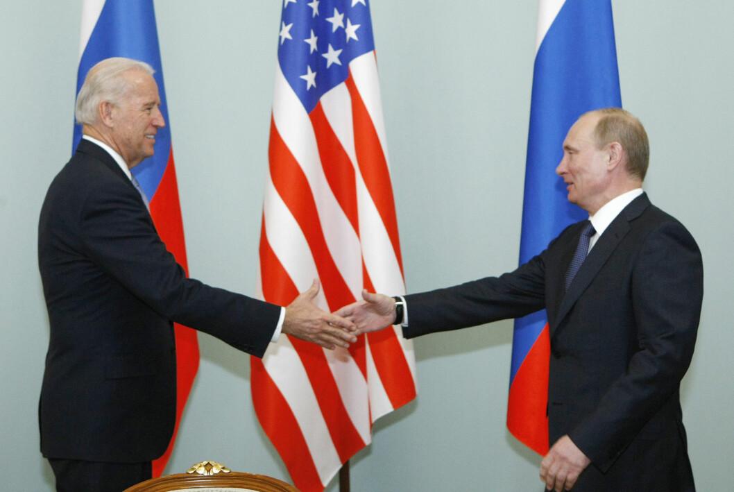 Da Joe Biden og Vladimir Putin møtte hverandre i 2011, da dette bildet ble tatt, var Biden visepresident.
