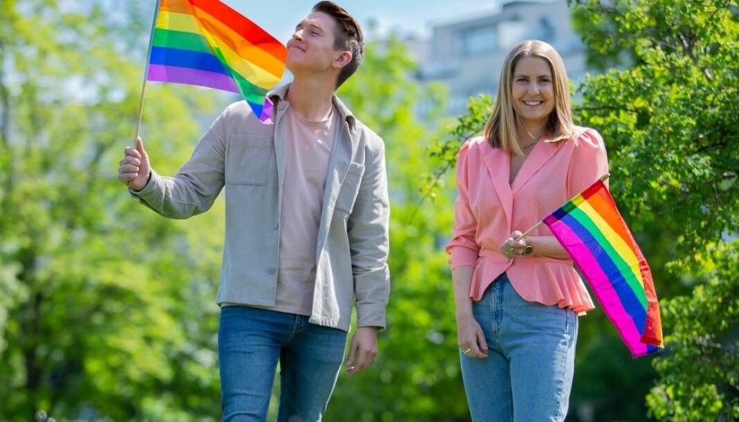 Benjamin Silseth og Silje Nordnes skal lede NRKs første Pride-sending.