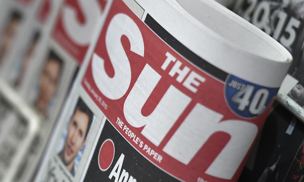 Skriver ned verdien av The Sun til null kroner