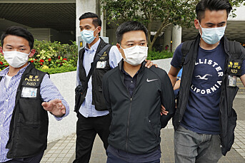 Fem pågrepet i razzia mot prodemokratisk avis i Hongkong