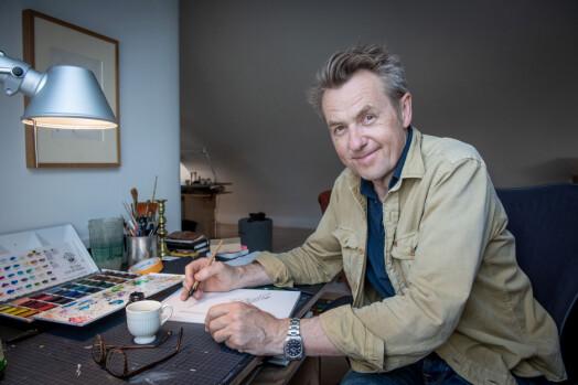 Har donert 24 originale korona-tegninger til Nasjonalbiblioteket
