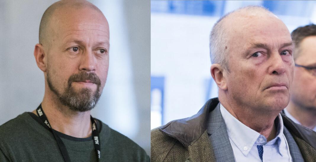 NRKs etikkredaktør Per Arne Kalbakk (t.v.) og Document-redaktør Hans Rustad.