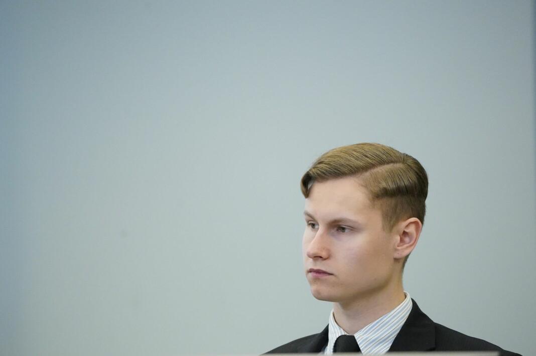 Philip Manshaus soner en dom på 21 års forvaring. Her fra tingrettssaken i mai 2020.