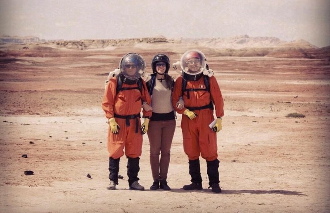Frilansjournalist Line Tiller på jobb for DN Magasinet i Utah, USA hvor internasjonale forskere fra hele verden i 2014 forberedte seg på å nå planeten Mars.