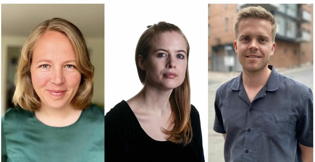 Aftenposten styrker innenriksavdelingen med tre nye journalister. Fra venstre Anine Hallgren, Åshild Langved og Torkjell Trædal.