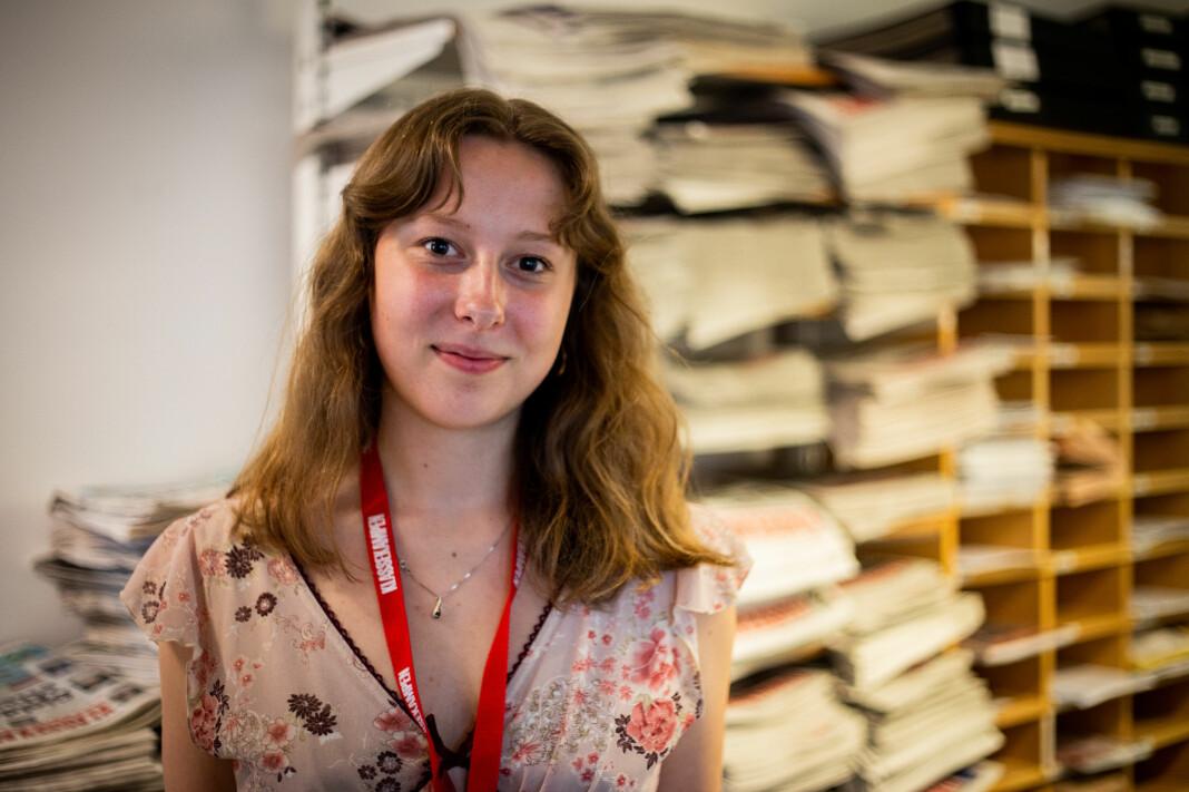 Ingrid Elida Karo Johansen, her i Klassekampens lokaler.
